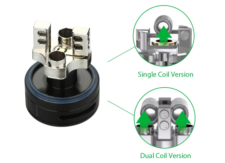 Digiflavor Fuji GTA Dual Coil Version 5.5ml Single coil version Dual coil version