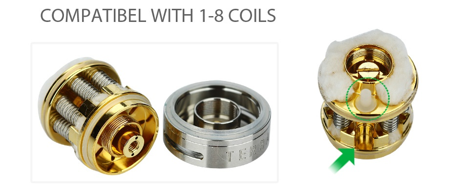 Envii Terra Octo-coil RTA 5.5ml COMPATIBEL WITH 1 8 COILS