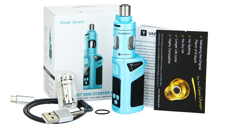 Vaporesso TARGET Mini 40W TC Starter Kit 1400mAh Small Smart GET MINI STARTER