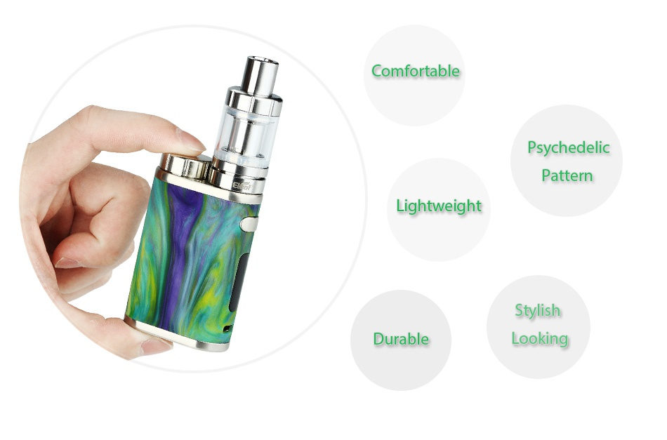 Eleaf iStick Pico RESIN 75W with Melo 3 Mini Kit Comfortable Psychedelic Pattern Lightweight Stylish Durable Looki