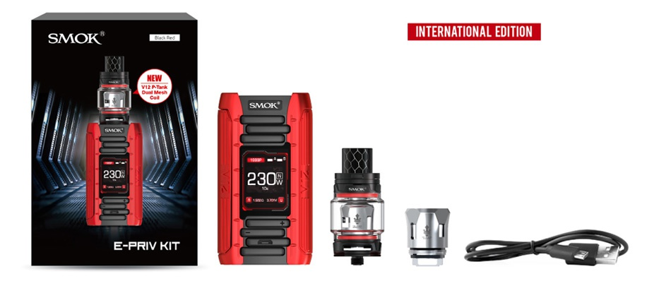 SMOK E-Priv 230W TC Kit with TFV12 Prince Tank SMOK TERNATIONAL ED E PRIV KIT