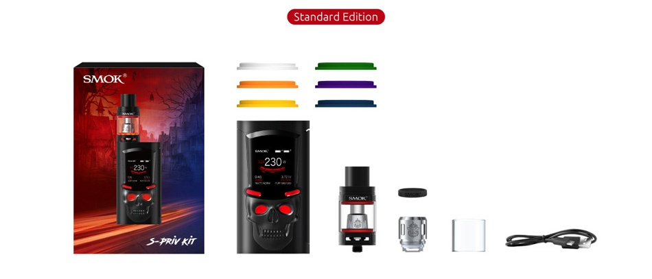 SMOK S-Priv 230W TC Kit with TFV8 Big Baby Standard Edition SMOF S PR y KT