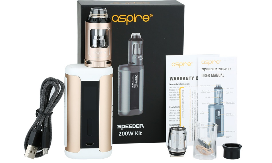 Aspire Speeder 200W TC Kit asoe  SPEEDER 200W KI WARRANTY C USER MANUAL SPEEDEK 200W Kit