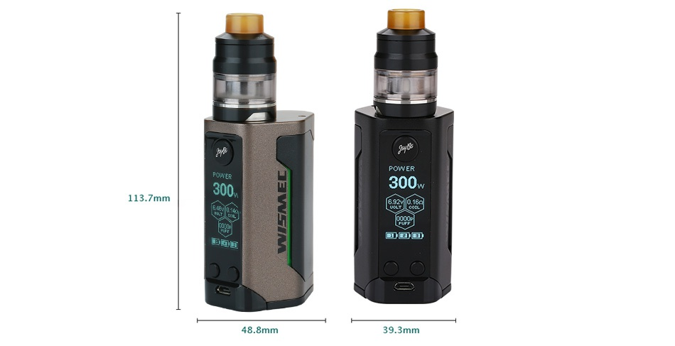 WISMEC Reuleaux RX GEN3 300W with Gnome TC Kit POWER 300 300 113 7mm DOn 48 8mm 39 3mm