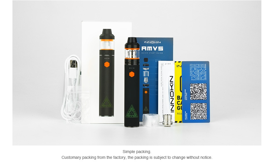 [US ONLY] Innokin AMVS Starter Kit 3000mAh      B Customary packing from the factory  the packing is subject to change without notice
