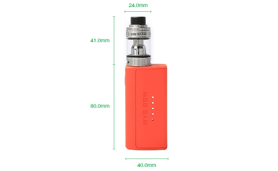 Tesla WYE 85W TC Kit with H8 Mini Tank OPE White Red Black Green Blue Yellow