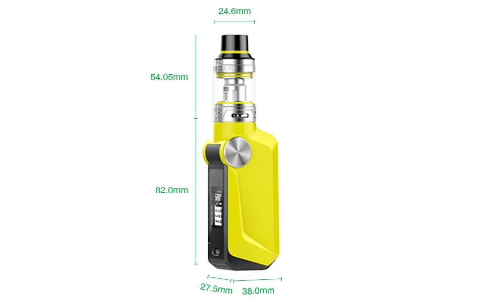 VOOPOO MOJO 88W with UFORCE TC Starter Kit 2600mAh 24 6mm 54 05m m38 0m