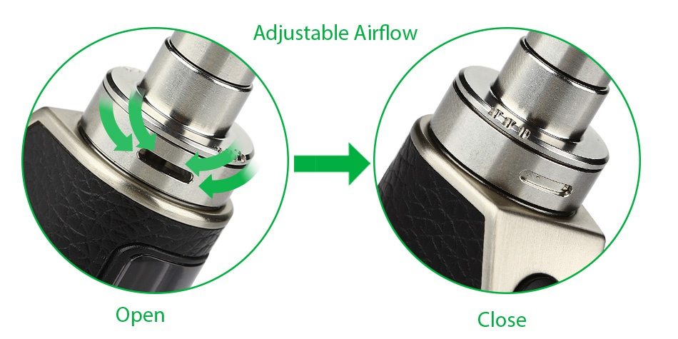 Eleaf Aster Total Starter Kit 1600mAh Adiustable airflow Open Close
