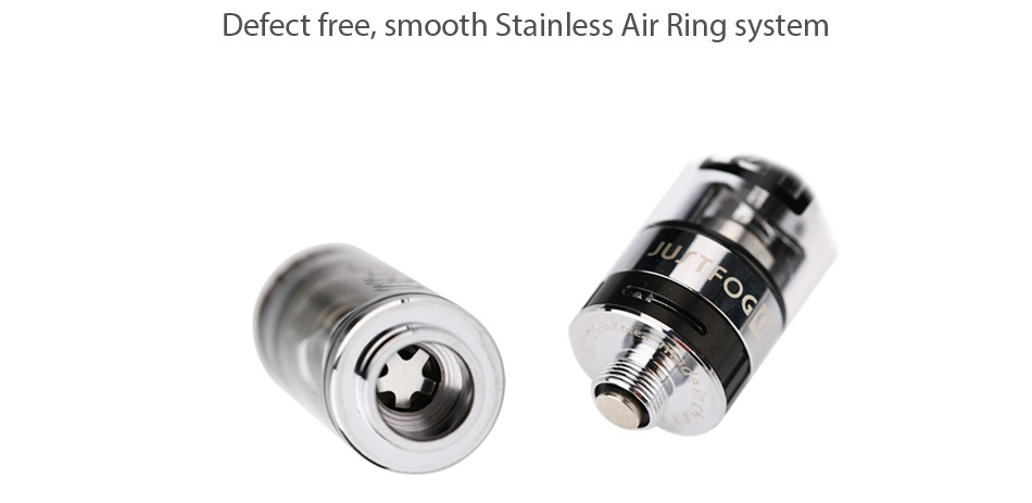 JUSTFOG Q16 Starter Kit 900mAh Defect free  smooth Stainless Air Ring system