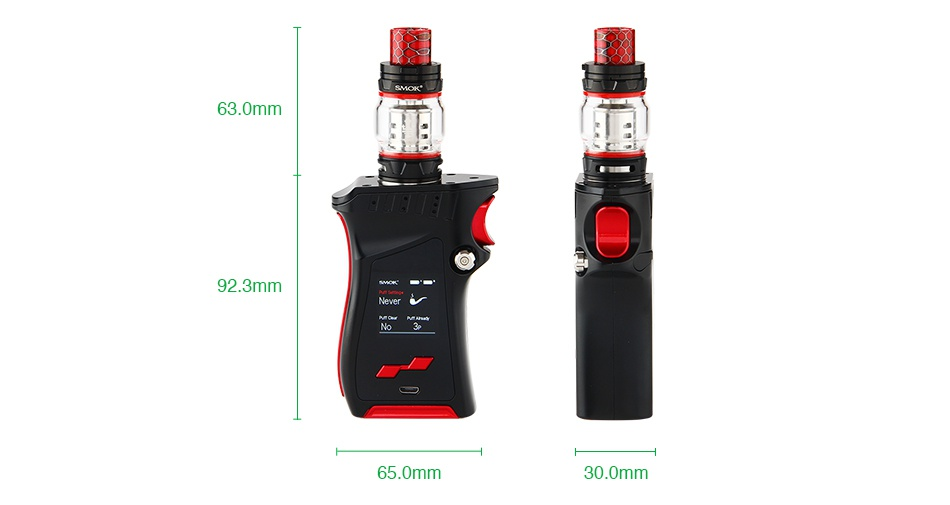 SMOK MAG 225W TC Kit with TFV12 Prince 63 0mm 923mm 65 0mm 30 0mm