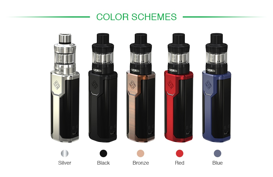 WISMEC SINUOUS P80 with Elabo Mini TC Kit COLOR SCHEMES